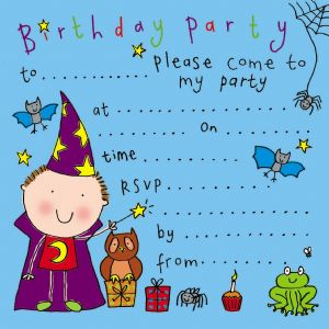 Wizard Children's Party Invitation